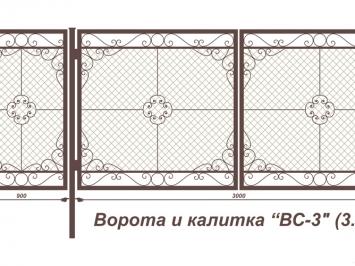 Ворота 4 м на 3 сварные ворота и калиткив спб
