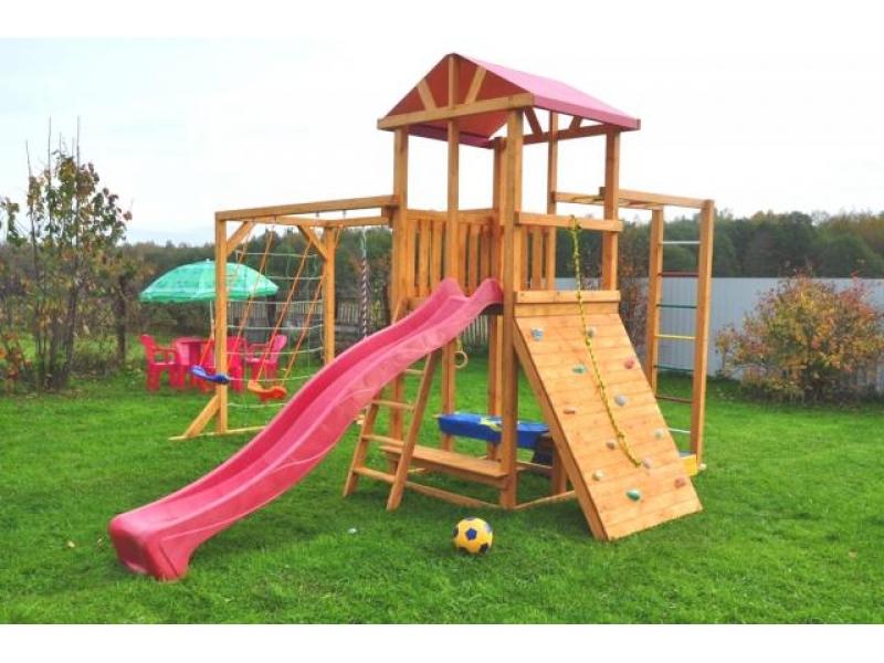 Детский игровой комплекс из дерева для улицы